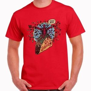 Loot Crate Red Deadpool Taco Surprise T Shirt